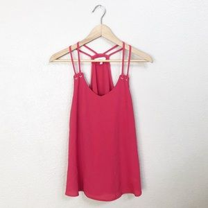 Active USA pink strappy tank top